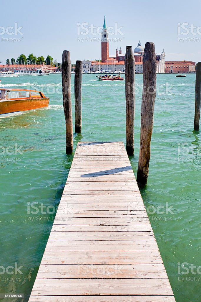 Marco Canal and view on San Giorgio Maggiore, Venice royalty-free stock photo