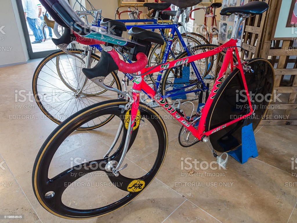 Marco Pantini's speed trial bicycle stock photo