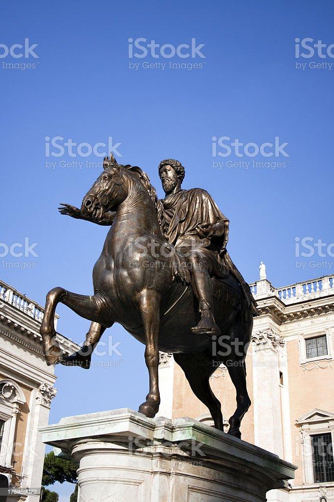 Marcus Aurelius Antoninus Augustus royalty-free stock photo