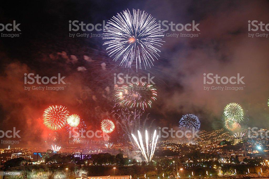Marderia New Year Firworks stock photo