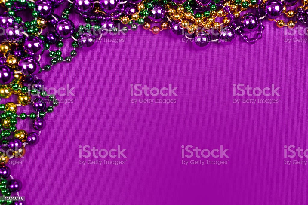 mardi gras beads border pictures images and stock photos