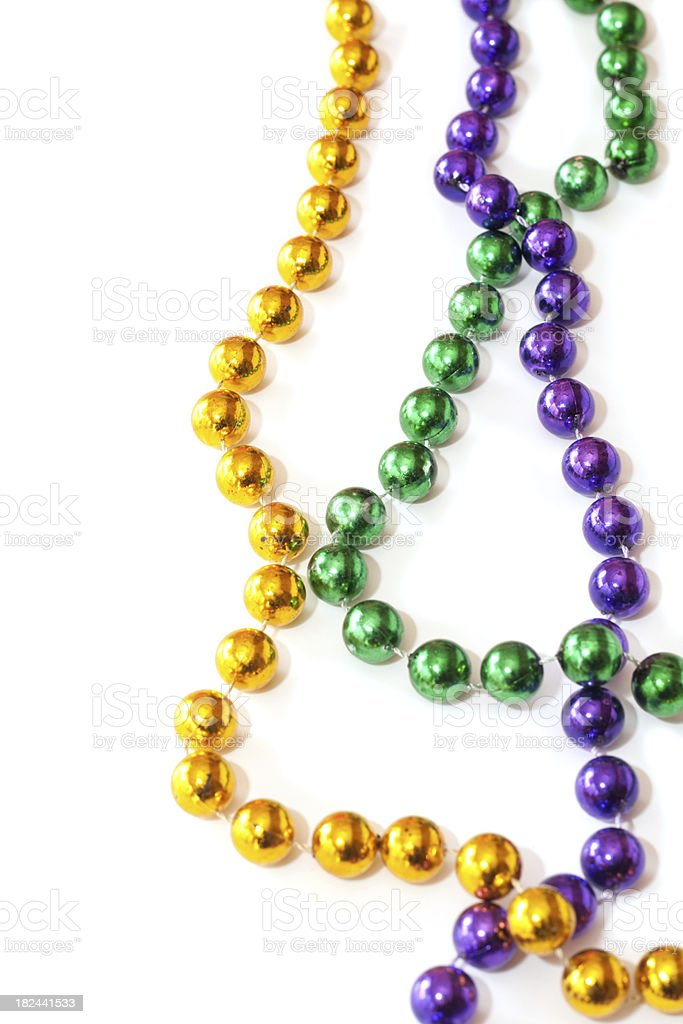 Mardi Gras Beads royalty-free stock photo