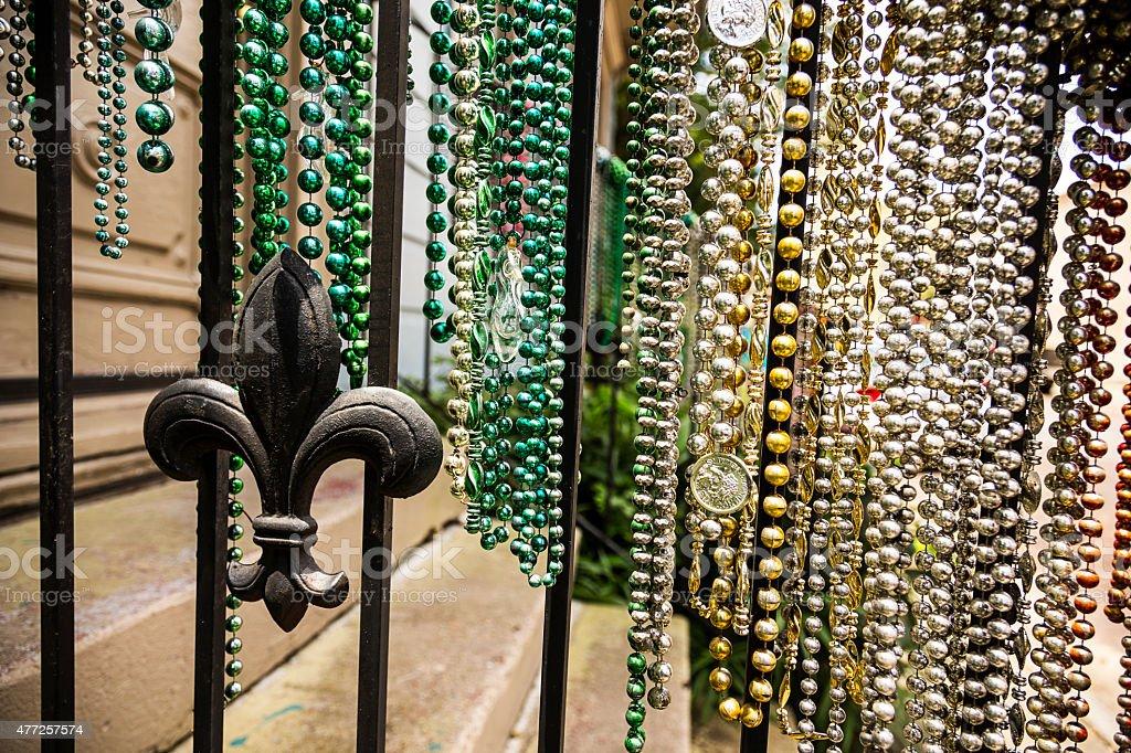Mardi Gras Beads stock photo