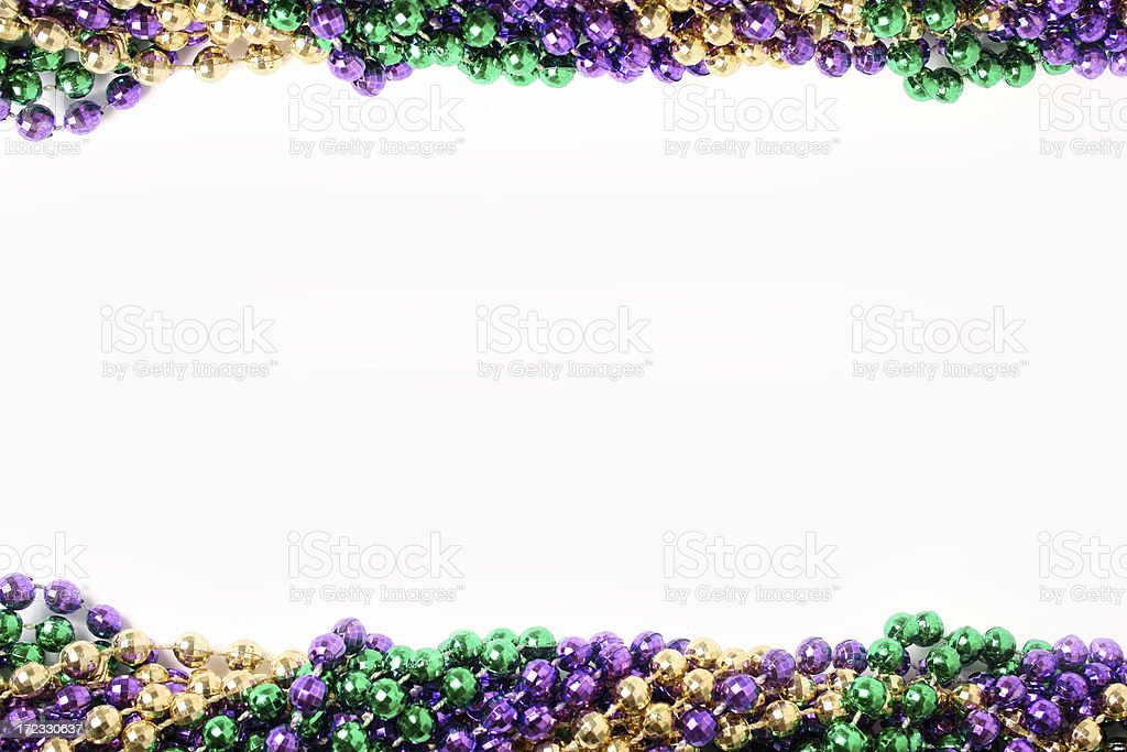 Mardi Gras border stock photo