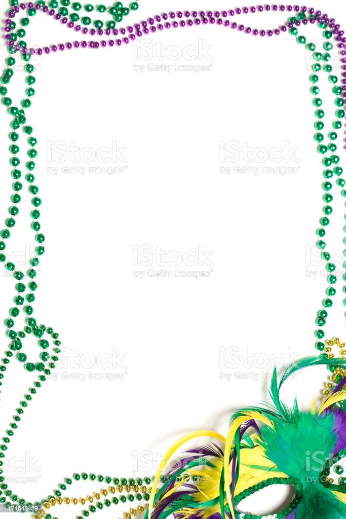 Mardi Gras Border royalty-free stock photo