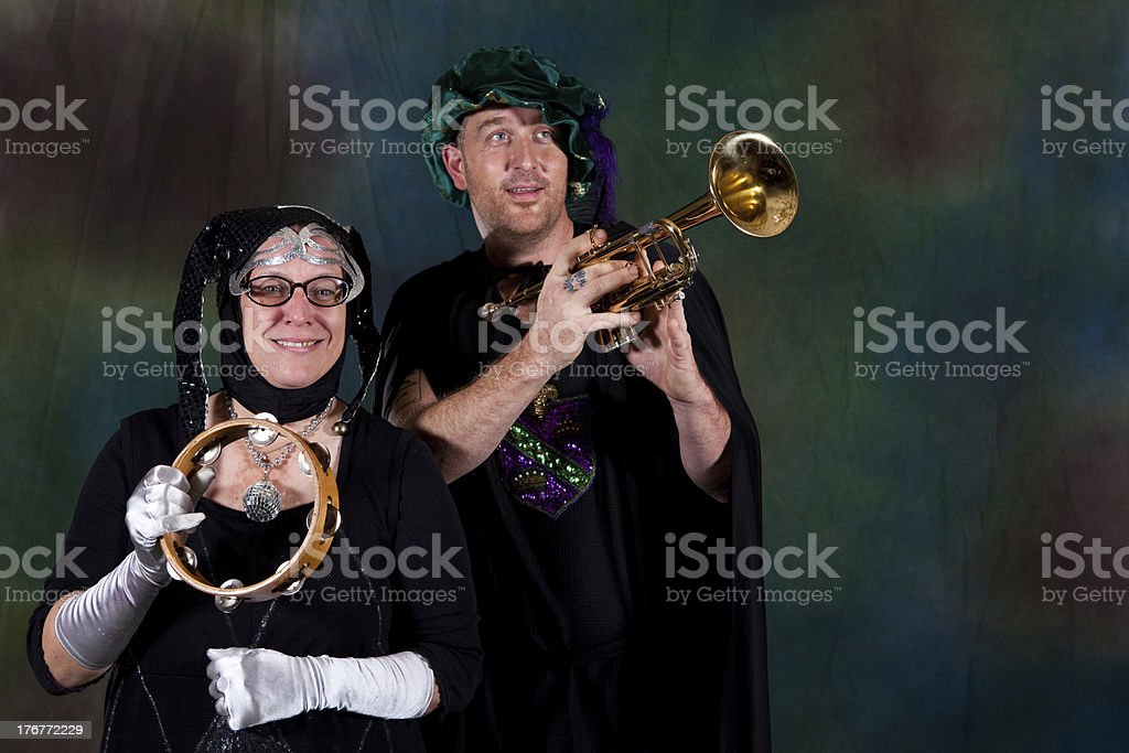 Mardi Gras Couple royalty-free stock photo