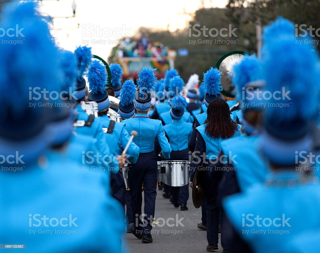 Mardi Gras festival Marching Band stock photo