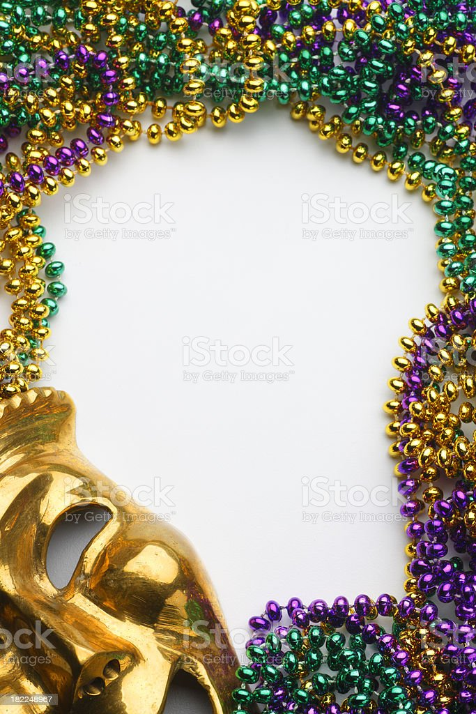 Mardi Gras Frame royalty-free stock photo