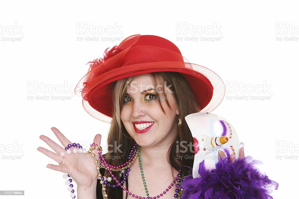 Mardi Gras Girl royalty-free stock photo
