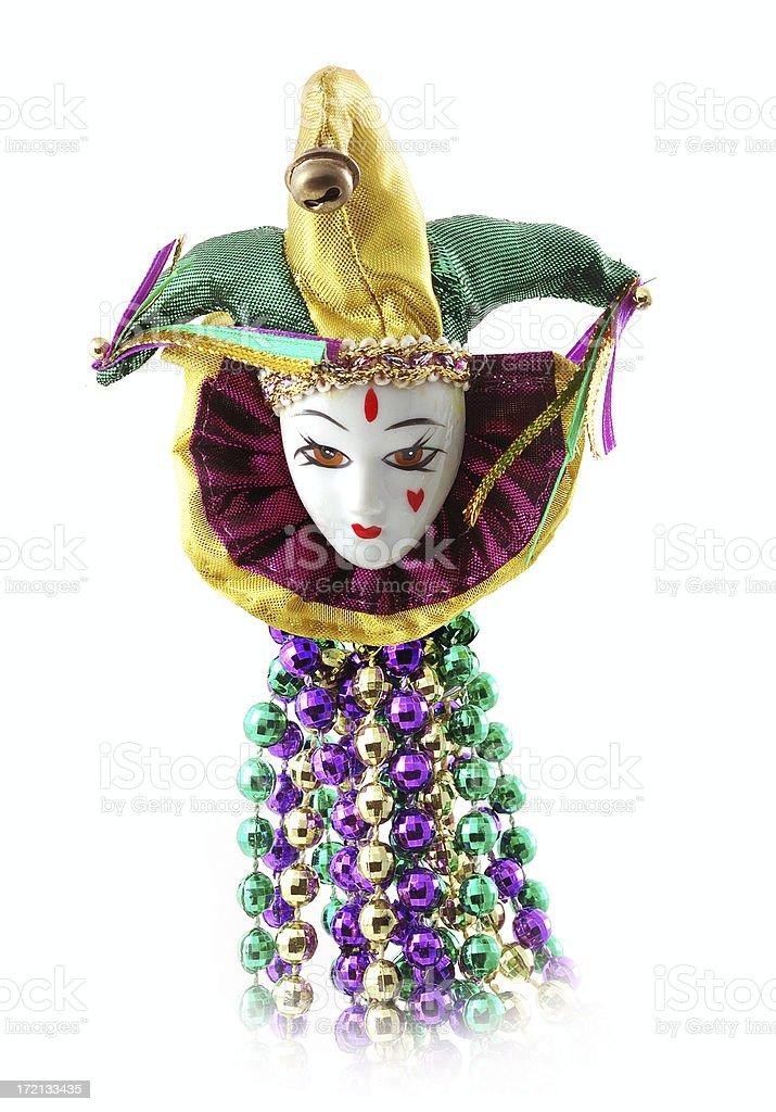 mardi gras harlequin royalty-free stock photo