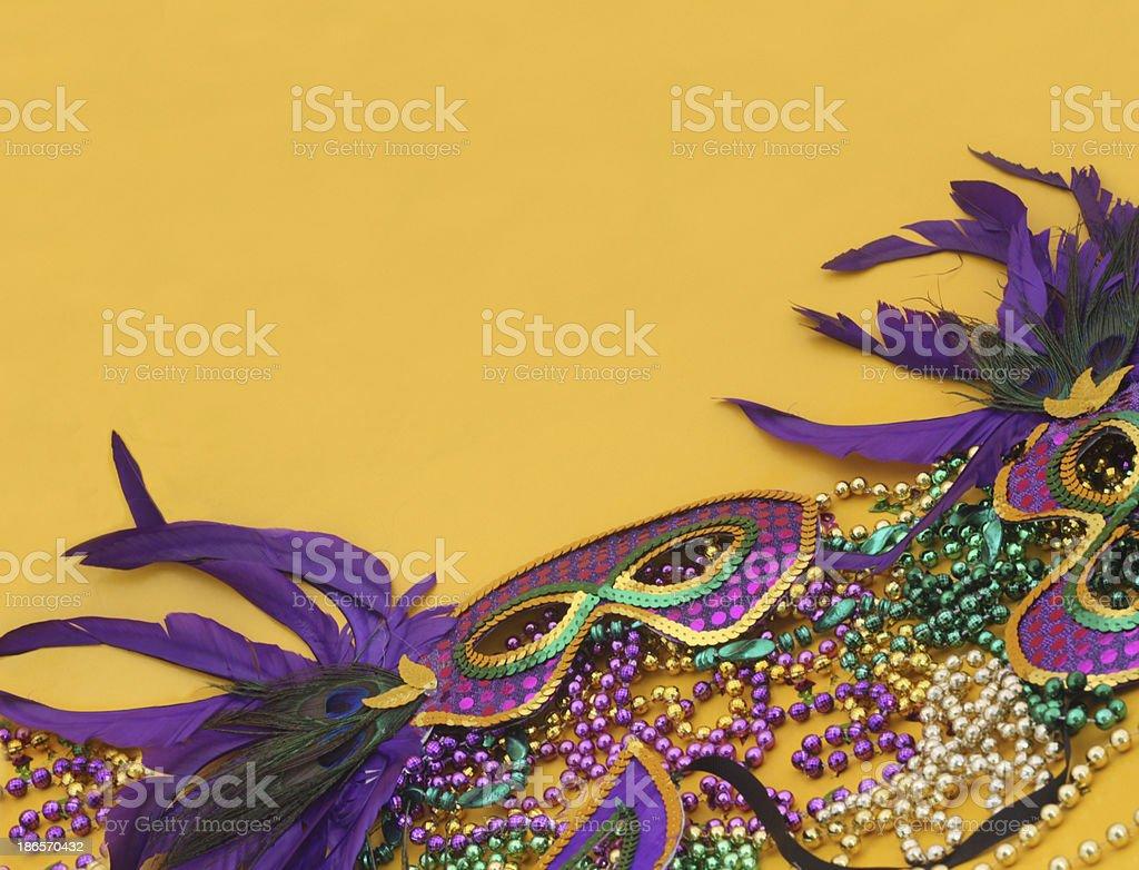 Mardi Gras in Yellow royalty-free stock photo