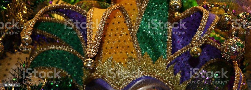 Mardi Gras jester's hat stock photo