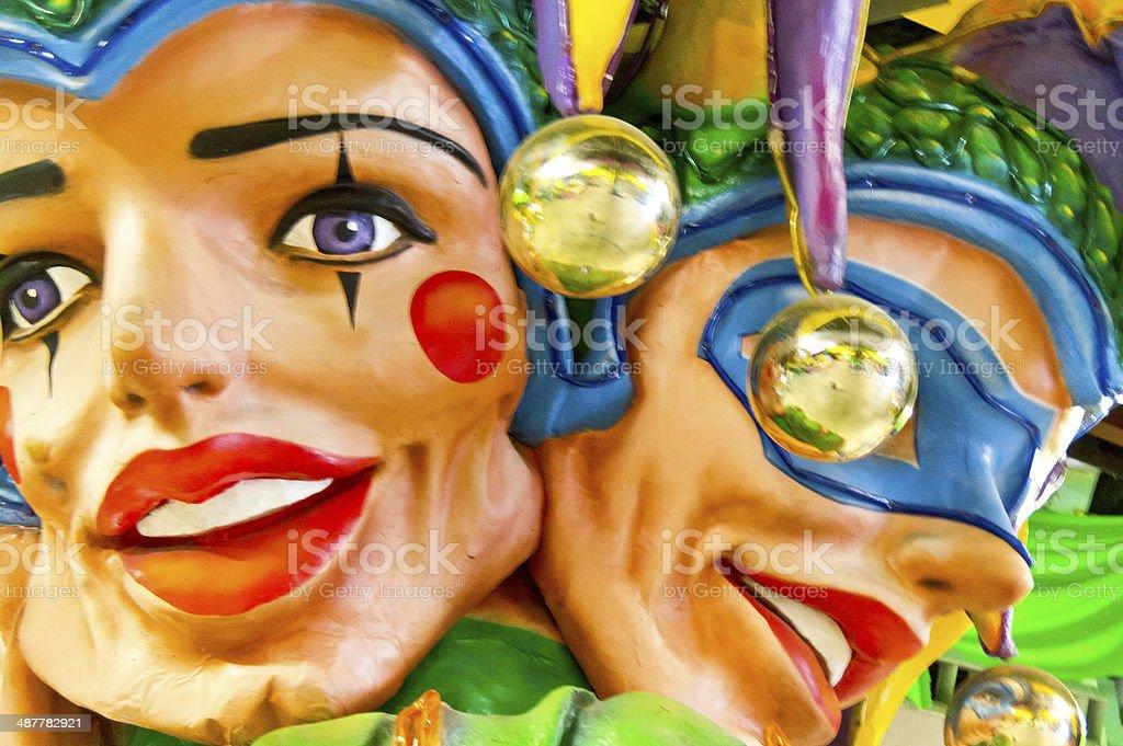 Mardi Gras Jesters stock photo