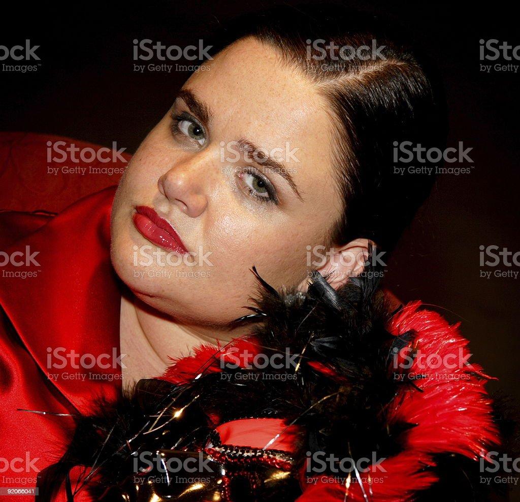 mardi gras mask female stock photo