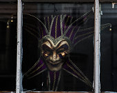 Mardi Gras Mask in Window