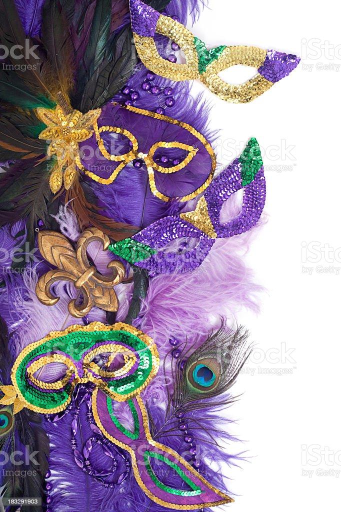 Mardi Gras masks and decorations royalty-free stock photo