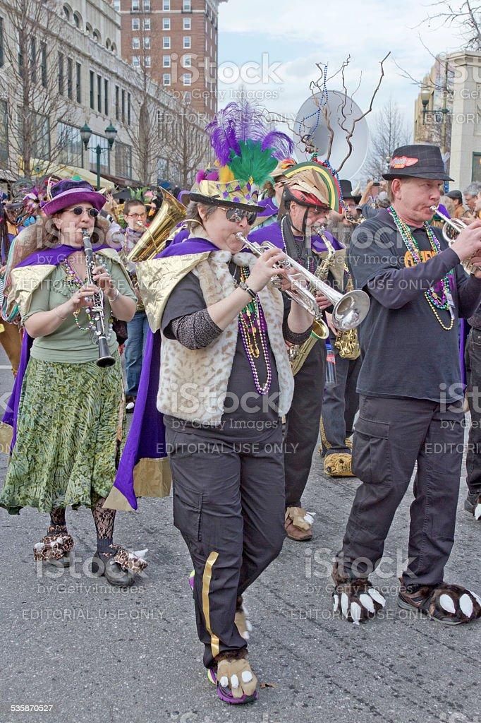Mardi Gras Parade Band stock photo