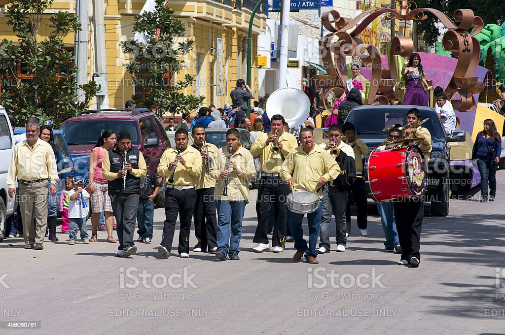 Mardi Gras Parade in Chapala Mexico royalty-free stock photo