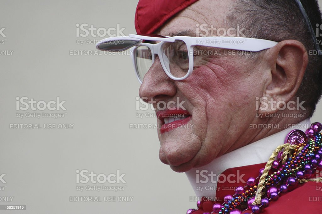 Mardi Gras Pope royalty-free stock photo
