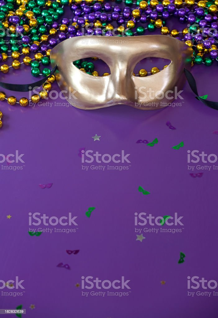 Mardi Gras Purple royalty-free stock photo