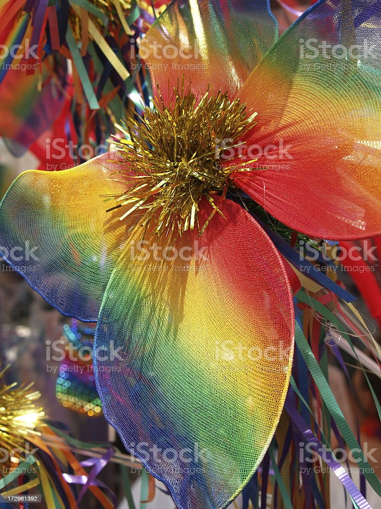 Mardi Gras Rainbow Butterfly royalty-free stock photo