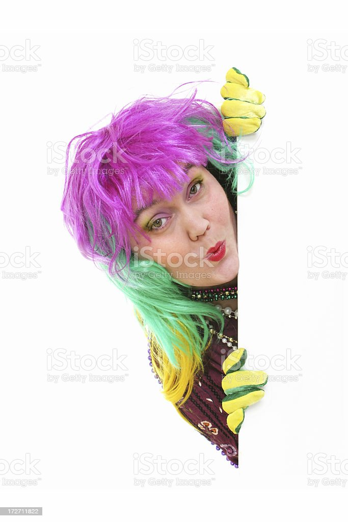 Mardi Gras Woman signboard royalty-free stock photo