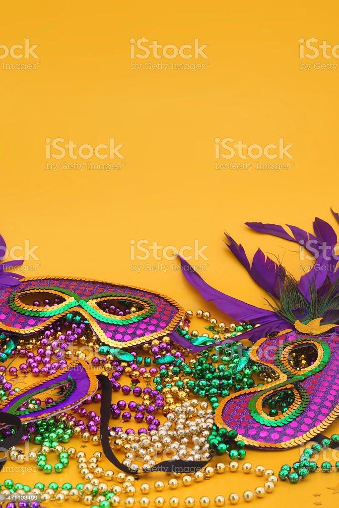 Mardi Gras Yellow royalty-free stock photo