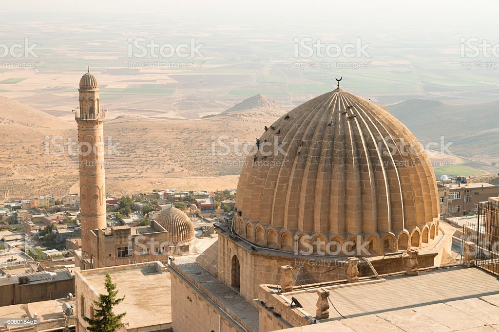 mardin city landscape stock photo