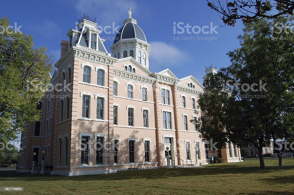 Marfa Texas Presidio County Courthouse royalty-free stock photo