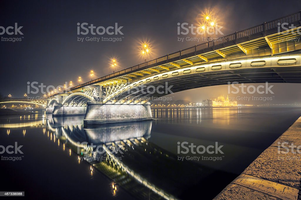 Margaret Bridge - Budapest - Hungary stock photo