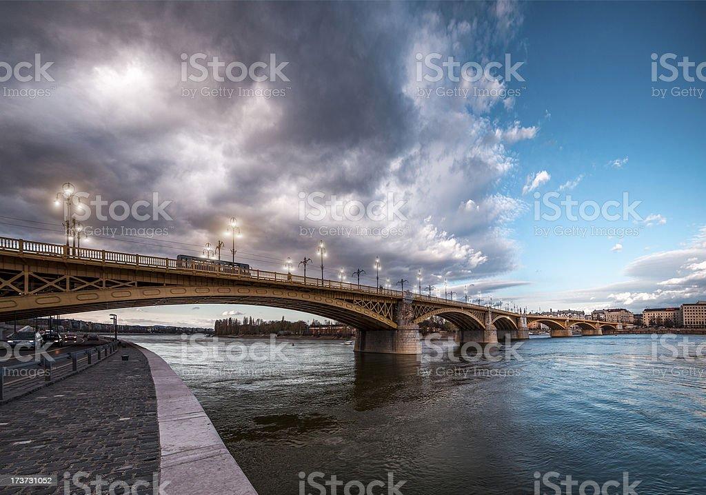 Margaret Bridge - Budapest stock photo