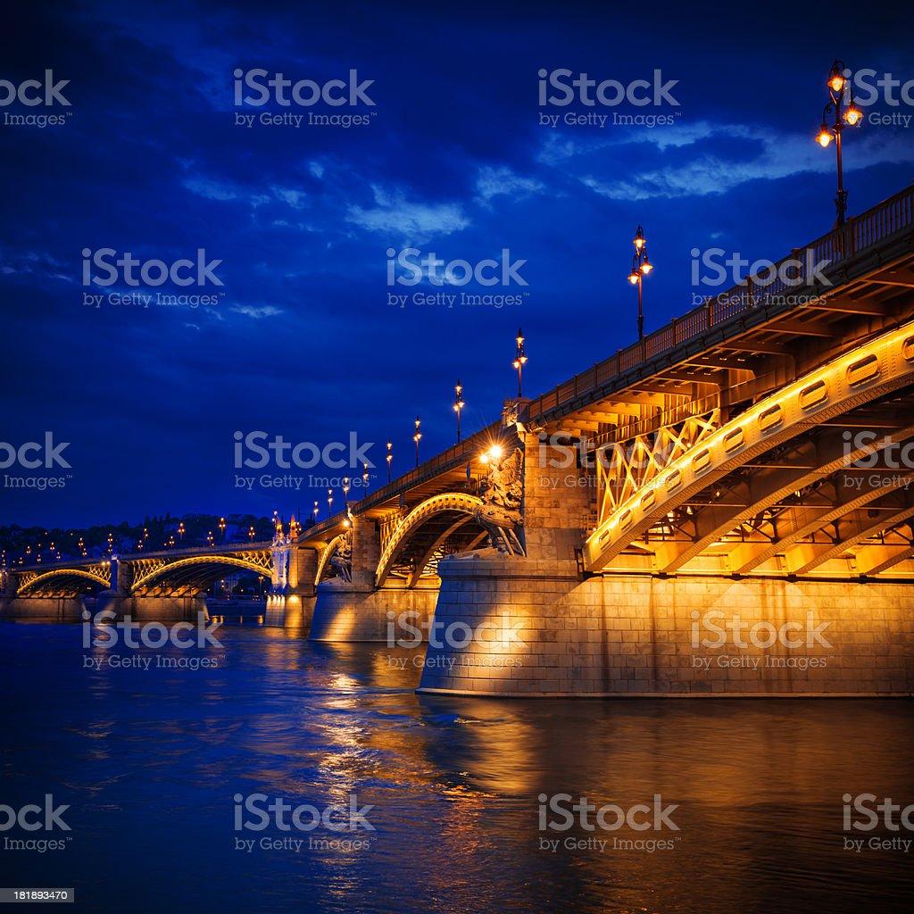 Margaret bridge, Budapest royalty-free stock photo