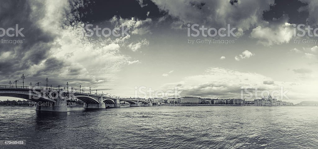 Margaret Bridge - Budapest stock photo