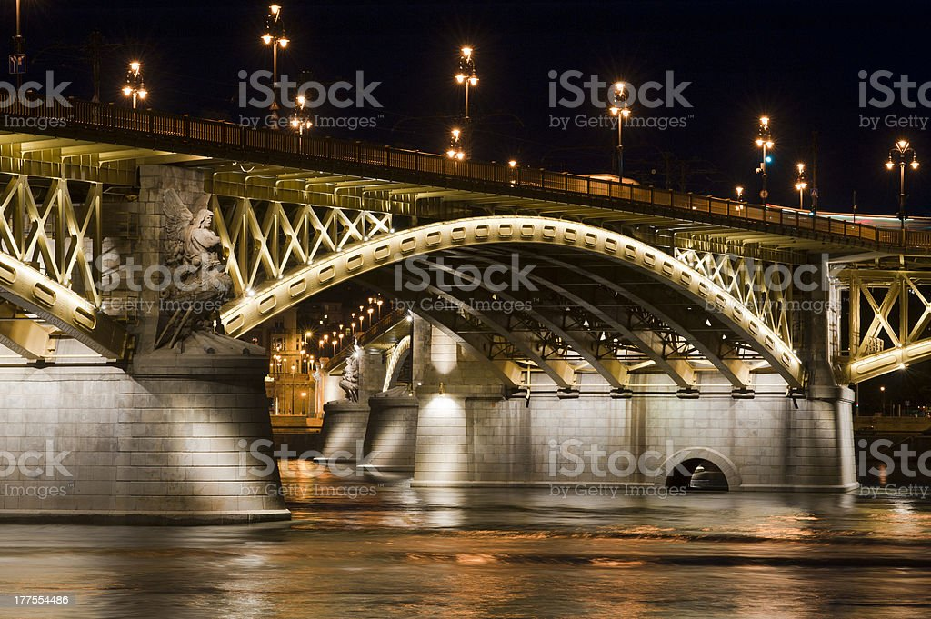 Margaret Bridge in Budapest stock photo