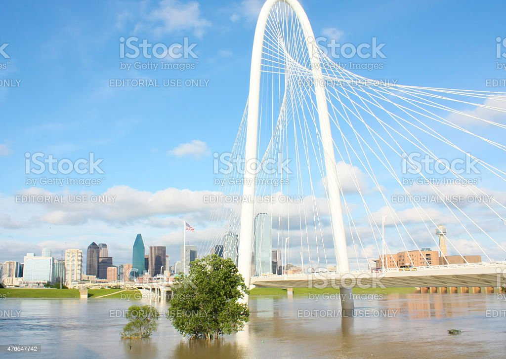 Margaret Hunt Hill bridge Dallas tx stock photo