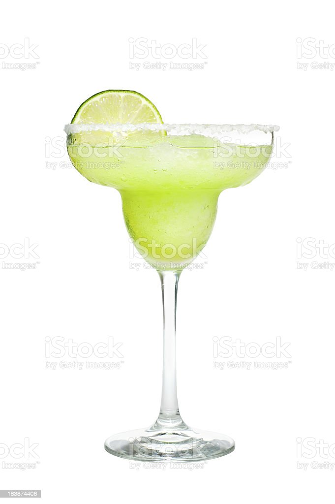 Margarita Cocktail Isolated on White Background stock photo