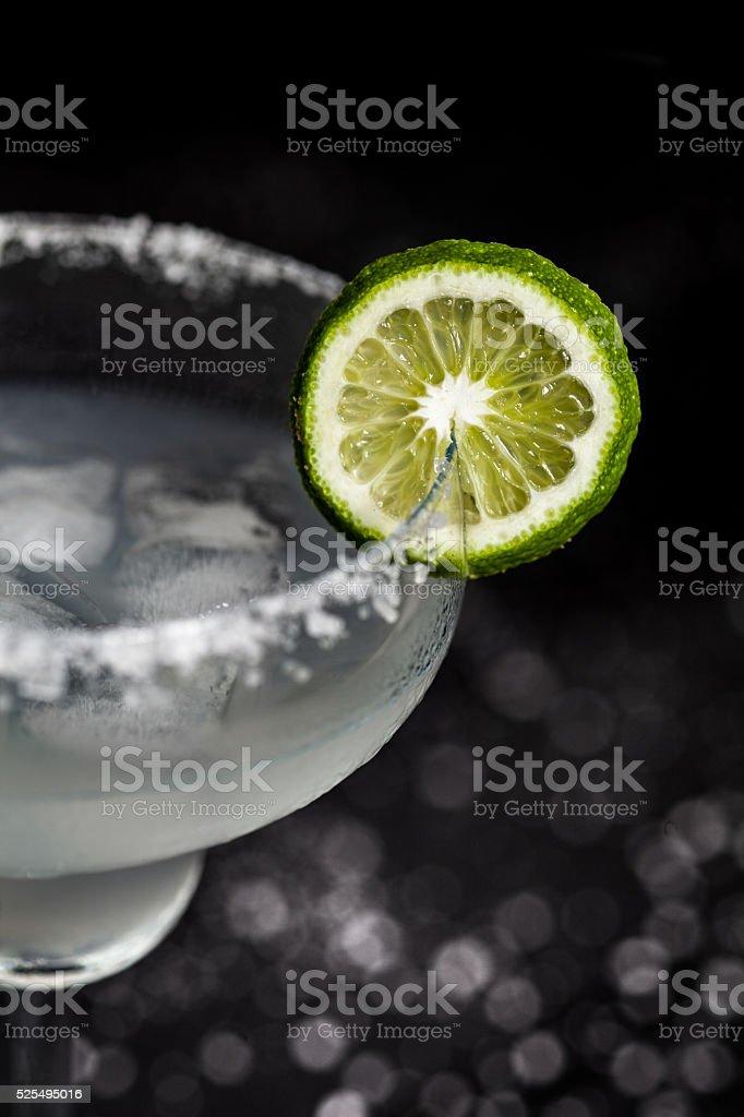 Margarita cocktail macro stock photo
