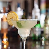 Margarita Cocktail on bar desk