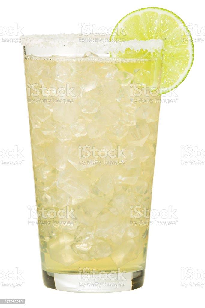 Margarita Cocktail on White stock photo