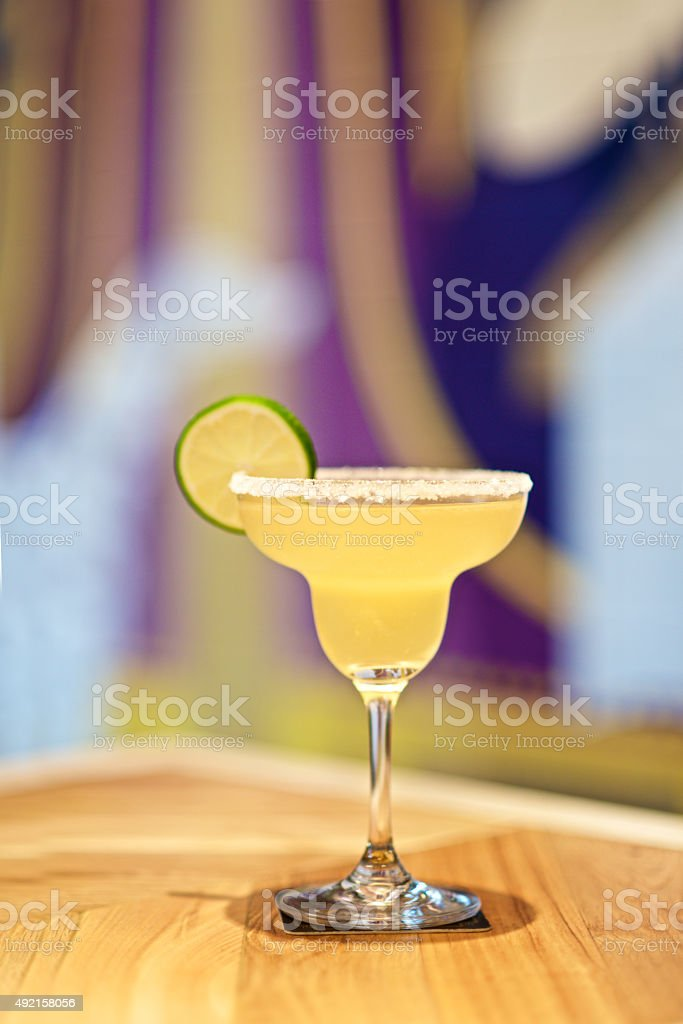 Margarita Cocktail with lemon stock photo