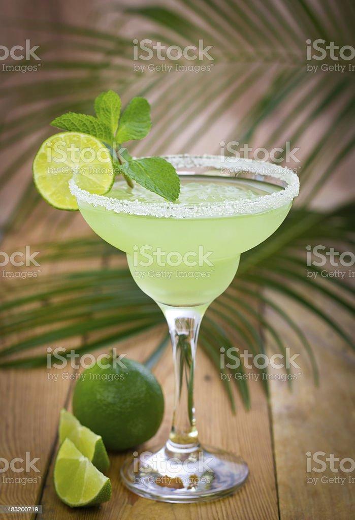 Margarita in a glass stock photo