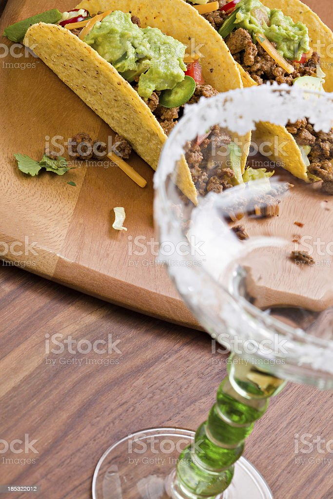 'Margarita Is Gone, Two Tacos Left Over' stock photo