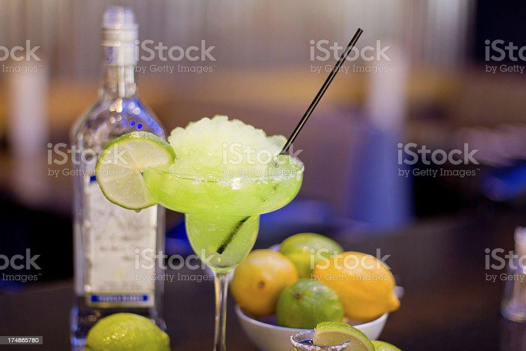 Margarita on the bar stock photo
