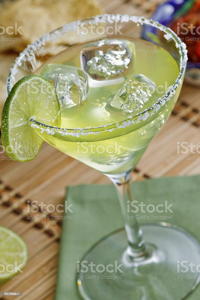 margarita on the rocks stock photo