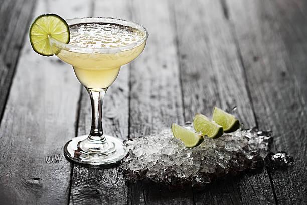 Black And White Margarita In Rocks Glass