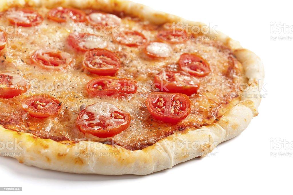 margarita pizza isolated on white background royalty-free stock photo