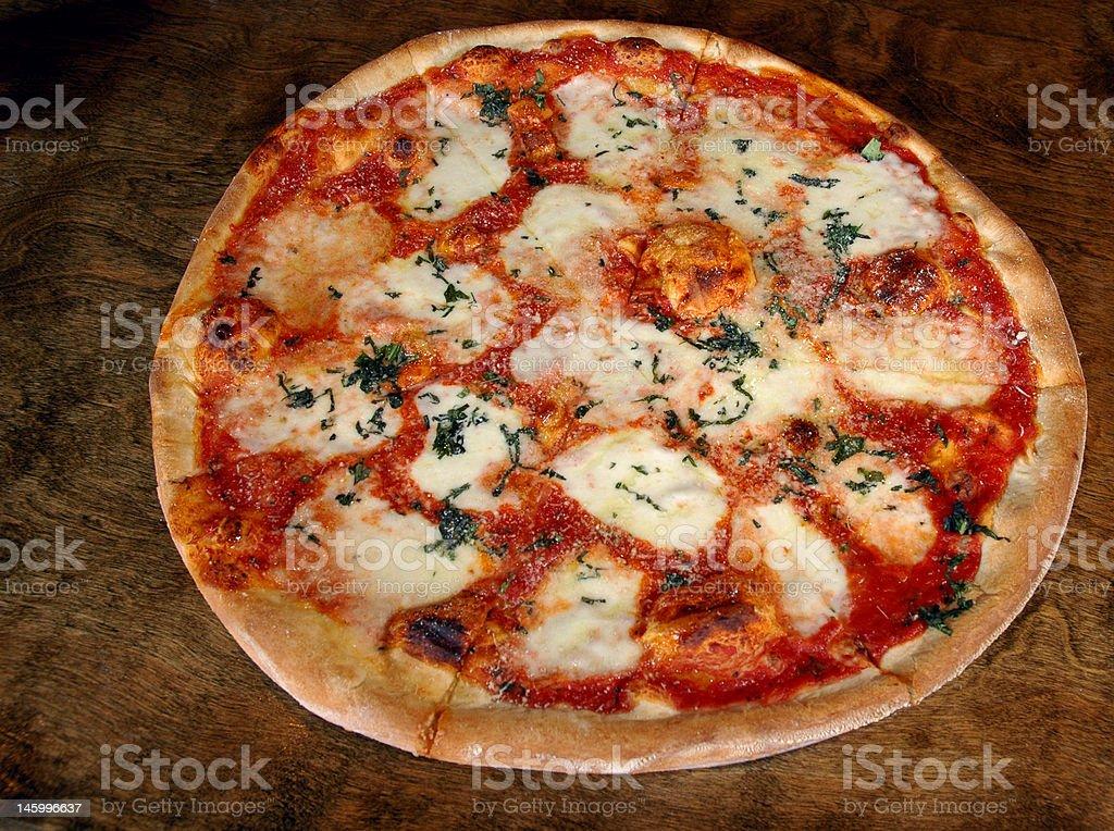 Margarita pizza royalty-free stock photo