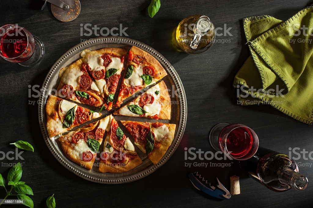 Margarita Pizza stock photo