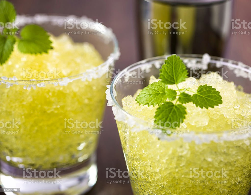 Margarita with lime and crushed ice royalty-free stock photo