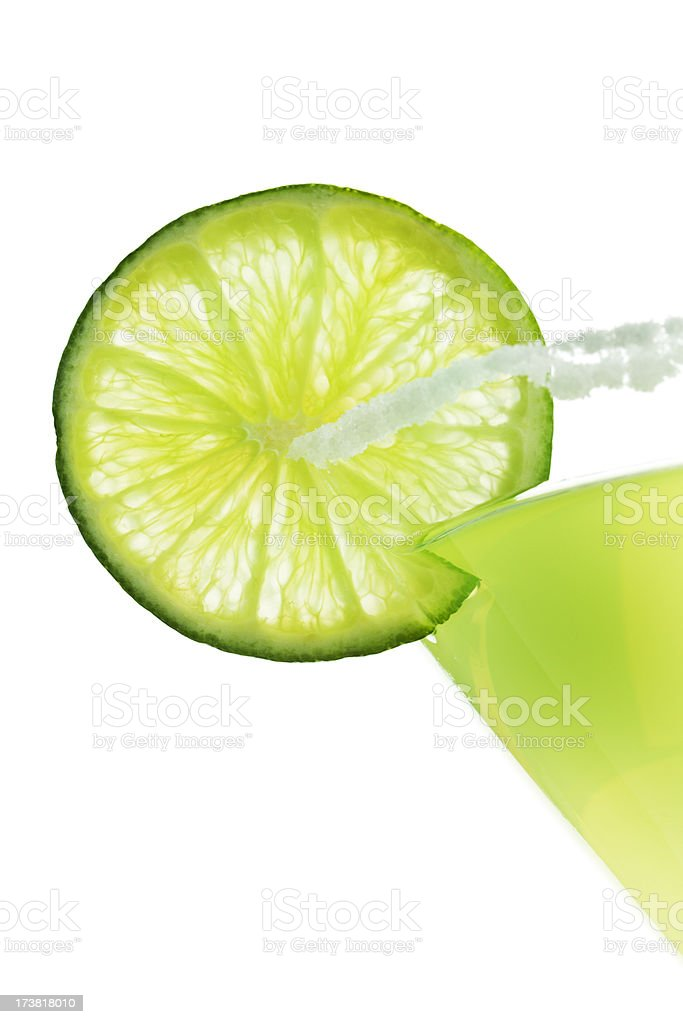Margarita with Salt stock photo